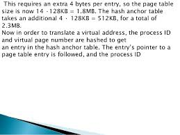 Page Table Entry Operating System Multilevel Paging Inverted Page Table