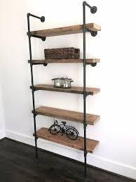 Reclaimed Wood And Metal Bookcase Bookshelf Extraordinary Industrial Bookcases Commercial Shelves