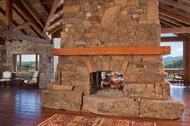 Rustic Wide Plank Flooring Rustic Living Room With Hardwood Floors U0026 Stone Fireplace Zillow