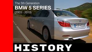 bmw 5 series e60 e61 history 2003 2010 youtube