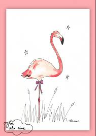 illustration flamant rose art plastique pinterest flamingo