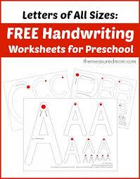 free preschool letter worksheets free handwriting worksheets for preschool letters of all sizes