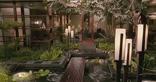 outdoor courtyard charming outdoor floor ls with wooden deck and lush plants for