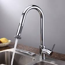 kitchen faucets pull chrome finish contemporary pull kitchen faucet