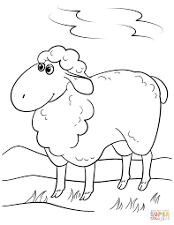 cute cartoon sheep coloring page free printable coloring pages