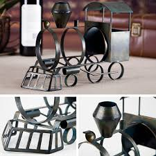 best and cheap army green tooarts train wine rack practical sculp