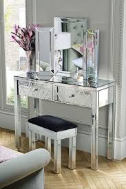 mirrored console vanity table mirrored console table bedroom hall accent entry way glass desk