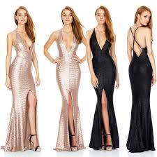2017 nightclub sequin split party long dresses christmas