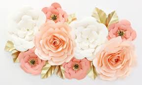 Wall Flower Decor by Giant Paper Wall Flower Set In Coral U0026 Peach Caden Lane