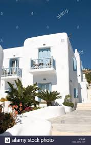 luxury 4 star harmony boutique hotel chora mykonos greece stock