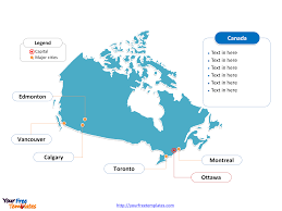 Map Of Canada Provinces Free Canada Powerpoint Map Free Powerpoint Templates