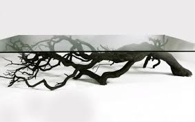 tree table exhibits the the mysterious and intriguing shapes of