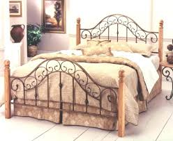 Rod Iron Headboard Wood And Wrought Iron Headboard Paperfold Me