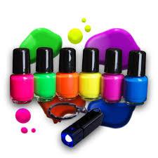neon uv nail polish set 6 x 5ml with uv lamp order at eventlights eu