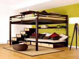 Free Building Plans For Loft Beds by Diy Free Standing Loft Bed With Built In Couch Below
