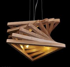 Wood Chandeliers Triangle Tunnel Solid Wood Chandelier Id Lights