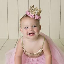 baby girl birthday pale pink birthday crown headband for girl birthday party girl