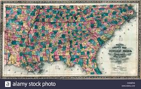 Map Of Te United States by Railway And County Map Of The Southern States Of The United States