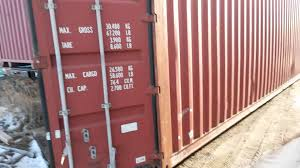 40 foot high cube storage container youtube