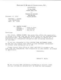 settlement letter debt collection résumé cv templates