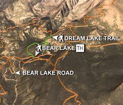 Estes Park Colorado Map Hiking Trails In Heart Of Rocky Mountain National Park