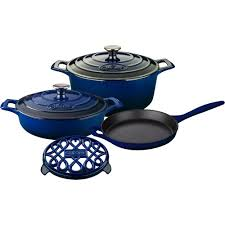 cuisine pro 27 la cuisine 6 enameled cast iron cookware set with saute
