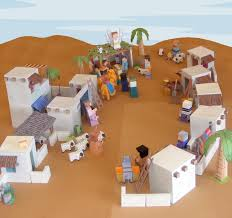 my little house bible paper toys u2013 bethlehem town paper craft