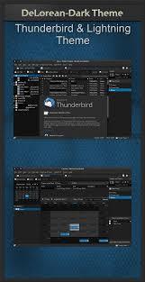 change themes on mozilla delorean dark thunderbird theme 1 10 by killhellokitty on deviantart
