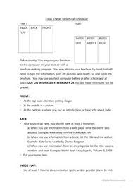 3 free esl travel brochure worksheets