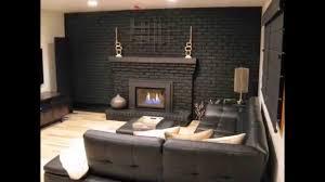 paint brick fireplace grey paint brick fireplace surround