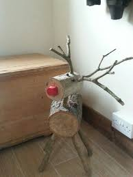 Reindeer Christmas Decorations Make by Reindeer Made From Logs U2026 Pinteres U2026