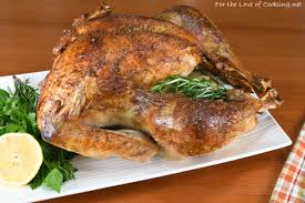 roasted turkey for the of cooking
