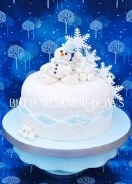 winter wonderland cake class buttercream and bows