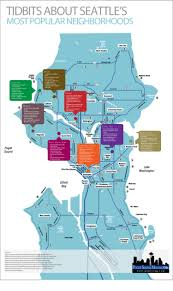 Map Of Seattle Neighborhoods by Tid Bits About Seattle U0027s Most Popular Neighborhoods Visual Ly