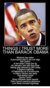 Obama Bill Clinton Meme - things i trust more than barack obama mexican tap water a