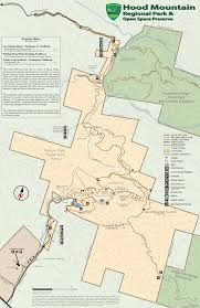 Map Of Sonoma County Hood Mountain Regional Park And Preserve Map