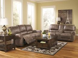Rustic Living Room Sets Westwood 3pcs Modern Rustic Microfiber Recliner Sofa Set