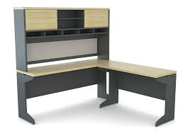 Black L Shaped Desk With Hutch Curved L Shaped Desk Solid Wood Executive Computer With Hutch On