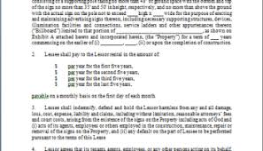 6 land lease agreement templates free sample templates