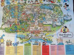 Disney World Magic Kingdom Map My Favorite Map Of All Time 1976 Walt Disneyworld Park Map