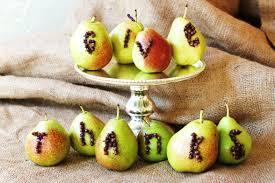 thanksgiving pear decorations burns idolza