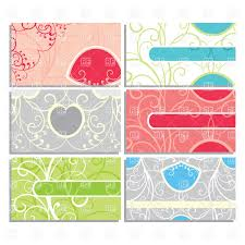sample business card templates free download set of cute ornate business cards vector image 20279 rfclipart set of cute ornate business cards click to zoom