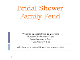 bridal shower question name a common wedding theme ppt online