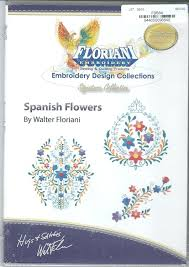 floriani embroidery design collection spanish flowers 844050096848