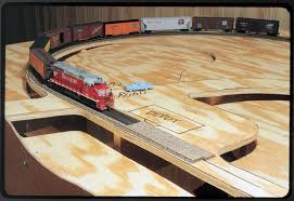 Plans To Build A Wooden Toy Train by Build A Table For A Small Model Railroad Modelrailroader Com
