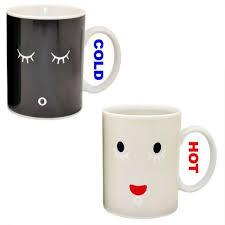 free shipping 1piece morning mug magic color change cup ceramic