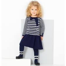 le top in vogue toddler knit dress and tights set