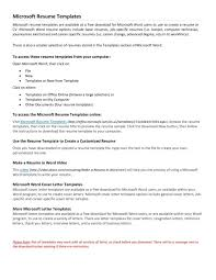 Resume Template For Wordpad Free Resume Templates Sample Template Word Project Manager Ms 2017