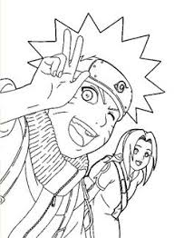 naruto face anime coloring pages for kids printable free
