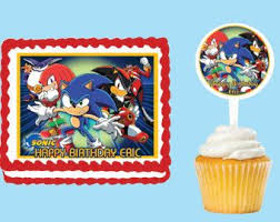 sonic the hedgehog cake topper ideal sonic edible cake image hedgehog cake topper etsy kayak
